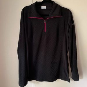 Columbia Black Quilted 1/4 Pullover Sweater Large